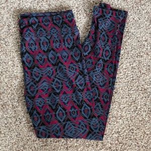 Lularoe Geometric Print TC Leggings NEW